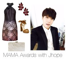 """MAMA Awards with Jhope"" by bts-outfit-imagines on Polyvore featuring Ted Baker, Jimmy Choo and Edie Parker"