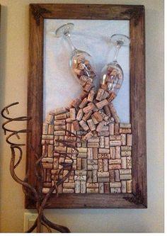 This is so cool! diy wine cork crafts, wine cork art, cork c Wine Craft, Wine Cork Crafts, Wine Bottle Crafts, Wine Bottles, Wine Glass, Crafts With Corks, Champagne Cork Crafts, Champagne Bottles, Wine Decanter