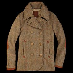 Golden Bear tweed peacoat.
