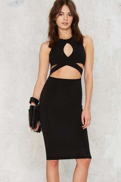 Nasty Gal Heart of a Champion Cutout Dress - Going Out
