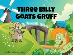 The classic Norwegian fairy tale, done in rhyme. Children can interact on every page to learn basic sizes, counting to 3, and following directions. Ages 2+ Billy Goats Gruff, Early Math, Following Directions, Math Concepts, Animated Cartoons, Nursery Rhymes, Counting, Fairy Tales, Age