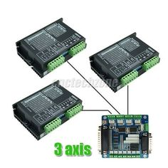 Diy CNC Kit 3 Axis Stepper Motor Driver 2M542 4.2A & Breakout Interface Board #LEADSHINE
