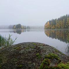 Peace ☮   #lakeview #misty #reflection #kallavesi #kuopio #lakelife #finnishnature  #lakelove #autumn #lake #foggy #rock #autumncolors #syksy #kivi #syksynvärit #heijastus #luonto #luonnonrauha #munympäristö #sumu #järvi #järvimaisema #tyynijärvi #maisema #naturelovers #naturephotography #enjoythenature #calm