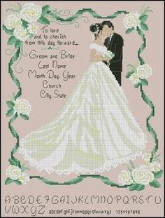 Wedding scheme newlyweds