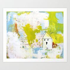 HOME SWEET HOME Art Print by poppydesign