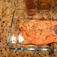 Steelhead Trout Bake with Dijon Mustard - Tried it with minced garlic instead of pressed and used Susie Q's, parsley, and fresh cracked pepper instead of lemon pepper. Yum!