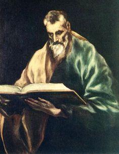 Renaissance Art — Apostle St. Simon, 1612, El GrecoSize: 77x97 cm...