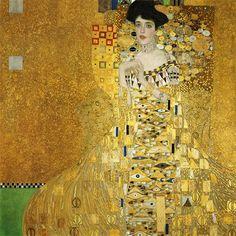 Portrait Of Adele Bloch-Bauer I Gustav Klimt Date: 1907 Style: Art Nouveau (Modern) Period: Golden phase Genre: portrait Media: oil, canvas Dimensions: 138 x 138 cm Location: Private Collection