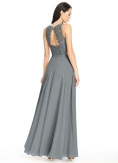 367c15f6827 Azazie Frederica. Dusty Blue Bridesmaid DressesAzazie ...