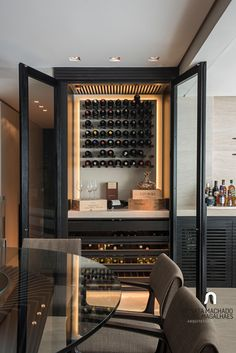 new ideas home bar designs cabinets wine storage Diy Home Bar, Bars For Home, Diy Bar, Home Wine Bar, Küchen Design, Interior Design, Design Ideas, Home Bar Areas, Home Wine Cellars