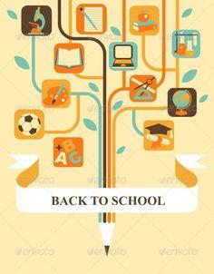 Education Tree #evellean #vector #icon