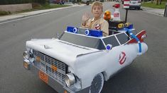 With Spina Bifida Turns Wheelchair Into 'Ghostbusters' Car for Halloween Themed Halloween Costumes, Group Halloween, Cool Costumes, Halloween Ideas, Ghostbusters Car, Original Ghostbusters, 8 Year Old Boy, Diy Car, 8 Year Olds