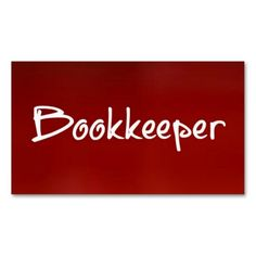 Bookkeeper Red Business Card. This is a fully customizable business card and available on several paper types for your needs. You can upload your own image or use the image as is. Just click this template to get started!