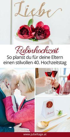40 Hochzeitstag Geschenk | Die 79 Besten Bilder Von Rubinhochzeit Deko Geschenke Zum 40