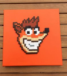 Crash Bandicoot- Hama perler Canvas by Dogtorwho