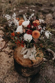 Burgundy, Cream, and Orange Bouquet for a fall wedding with moody vibe Bridal Bouquet Fall, Fall Bouquets, Fall Wedding Bouquets, Fall Wedding Flowers, Fall Wedding Colors, Wedding Flower Arrangements, Bridal Flowers, Fall Flowers, Floral Wedding