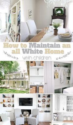 Learn how to keep your white home white with simple storage solutions from Julie of Coordinately Yours at TidyMom.net
