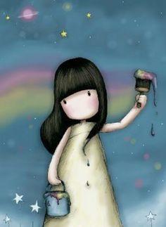Yo pinto mi cielo, mi vida, mis aventuras y mis felicidades. Y si, me siento agusto así.