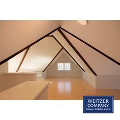 These clients had a large attic space they wanted to convert to a guest room. We worked with the clients to create a Fachwerk style architectural accent with the roof framing that spoke to their Austrian background. Light maple floors help make the cozy space feel more open and bright.  #atticremodel #fachwerk #attic #architecture #designbuild #interior #interiordesign #interiors #pdxarchitecture #pdxcontractor #pdxdesign #pdxremodel #remodel #white Construction Services, New Construction, Maple Floors, Attic Remodel, Attic Spaces, Building Design, Guest Room, Cozy, Bright