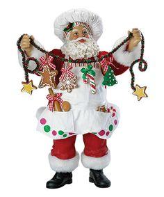Another great find on #zulily! Christmas Chef Santa Figurine #zulilyfinds