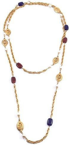 Chanel Vintage long beaded necklace