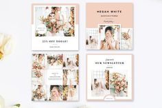 Instagram Template Pack by Marham Labeling Co on @creativemarket