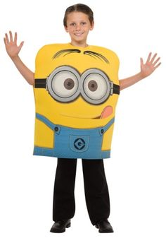 Now your child can become their favorite minion character from Despicable Me with this Child Minion Dave Costume. The cute polyfoam tunic goes great with a pair of our black shoes!