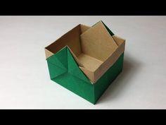 【折り紙(おりがみ)】 箱の折り方 作り方 入れ物 実用 - YouTube Origami Box Tutorial, Origami Gift Box, Origami Paper Folding, Origami And Kirigami, Origami Ball, Origami Bookmark, Origami Stars, Origami Instructions, Origami Design
