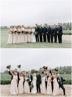Bridal party wedding floral designed by Twin Cities wedding florist Artemisia Studios. Photos by Kate Becker Photography (http://www.katebeckerphotography.com/). #katebeckerphotography #weddingparty #bridalparty #Bridesmaids #groomsmen #bride #groom #weddingphotos #flowers #bouquets #minnesotaweddingflorist #artemisiastudios