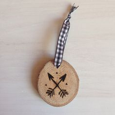 Arrow Hand-Etched Maple Ornament by BirchLandingHome on Etsy