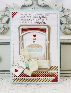Little Bit Brighter Card by Melissa Phillips for Papertrey Ink (November 2013)