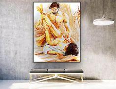 Handmade nude art original painting wall painting gallery image 2 Acrylic Painting Canvas, Body Painting, Canvas Wall Art, Colorful Artwork, Colorful Paintings, Painting Gallery, Art Gallery, Original Art, Original Paintings