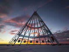 Medicine Hat, Alberta Canada teepee