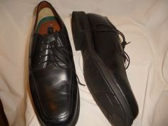 George mens black leather upper  dress oxfords sz 13 black lace up gently used #George #oxford