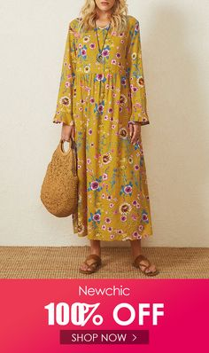 I found this amazing Vintage Floral Printed O-neck Long Sleeve Maxi Dress with US$22.99,and 14 days return or refund guarantee protect to us. --Newchic #Womensdresses #womendresses #womenapparel #womensclothing #womensclothes #fashion #onlineshop #onlineshopping #bigdiscount #shopnow #DiscountSale #discountprices #discountstore #discountclothing #fashionista #fashionable #fashionstyle #fashionpost #fashionlover #fashiondesign #fashionkids #fashiondaily #fashionstylist #fashiongirl Backless Maxi Dresses, Maxi Dress Wedding, White Maxi Dresses, Plus Size Maxi Dresses, Floral Maxi Dress, Long Sleeve Maxi, Maxi Dress With Sleeves, Cheap Summer Dresses, Diy Dress