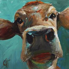 Elise The Cow Art Print by Cari Humphry. All prints are professionally printed, packaged, and shipped within 3 - 4 business days. Choose from multiple sizes and hundreds of frame and mat options.