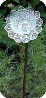Glass plate flowers