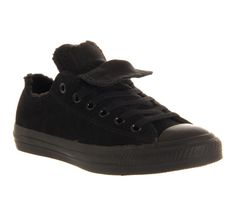 Mens Converse Allstar Low Double Tongue Black Mono Shearling Exclusive Trainers Shoes, http://shop.pixiie.net/mens-converse-allstar-low-double-tongue-black-mono-shearling-exclusive-trainers-shoes-black/