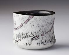 James Whiting - Cup (porcelain with mauve clay inlay) #ceramics #pottery #cup