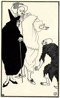 Don Juan, Sganarelle and the Beggar - Aubrey Beardsley