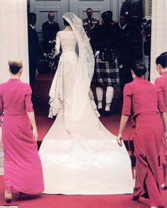 """""""Wedding Dress"""" of Crown Princess Mary of Denmark (nee Mary Elisabeth Donaldson) This beautiful ivory gown was designed by Danish designer Uffe Frank."""