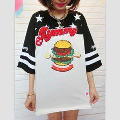 NEW Harajuku hamburg t shirt