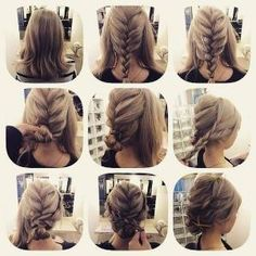 Fashionable Braid Hairstyle for Shoulder Length Hair: by nannie