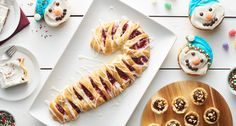 A colorful candy cane-shaped Danish, an ooey-gooey cheesy appetizer and other recipes we loved from around the internet this week Christmas Brunch, Christmas Breakfast, Christmas Desserts, Christmas Treats, Christmas Morning, Christmas Cookies, Christmas Catering, Reindeer Cookies, Christmas Entertaining
