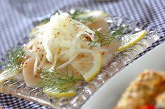 ディル以外のハーブでもOK! 白ワインが飲みたくなる、上品な前菜です。ホタテのサラダ[洋食/サラダ]のレシピです。 Cabbage, Meat, Chicken, Vegetables, Food, Essen, Cabbages, Vegetable Recipes, Meals