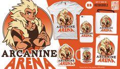 Time to show us what you're made of @ Arcanine Arena!   #arcanine #pokemon #arena #ArcanineArena #Dog #Wolf #Gym #Anime #Manga #Fan #FanARt #Art #Geek #RedBubble #Strong #DoYouEvenLift #Fight #Battle #Fashion #GeekFashion