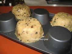 Bake cookies on bottom of the pan - great for ice cream bowls
