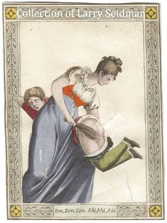 Corporal punishment. French movable card ca1820