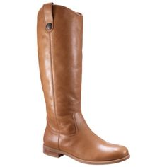 Women's Merona® Kasia Leather Riding Boot - Tan