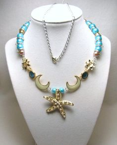 Starfish under the Moon - Jewelry creation by Linda Foust
